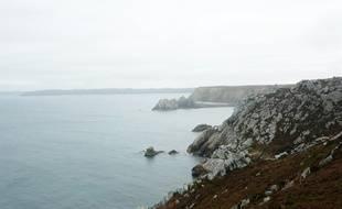 Le sentier de randonnée GR34, ici dans le Finistère, sur la presqu'île de Crozon.