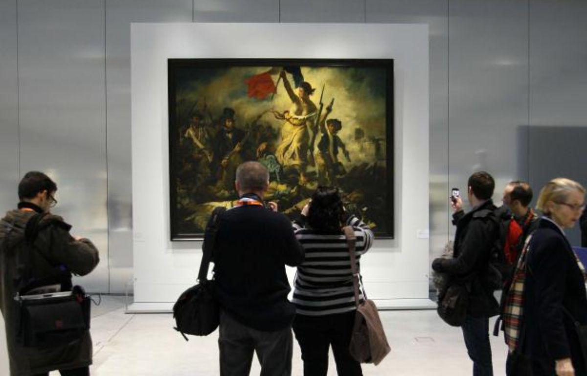 La liberté guidant le peuple, Delacroix (1830), exposé au Louvre-Lens. – Michel Spingler/AP/SIPA