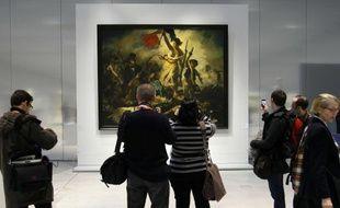 La liberté guidant le peuple, Delacroix (1830), exposé au Louvre-Lens.