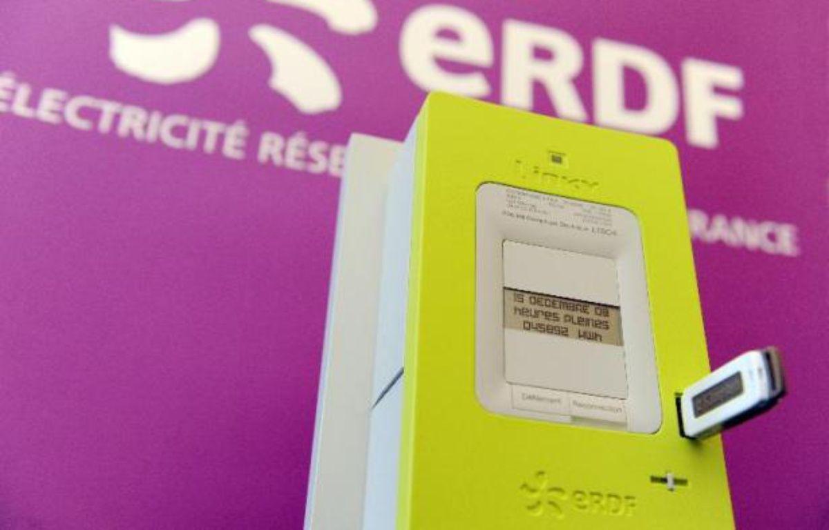"""Le compteur électrique intelligent """"Linky"""" présenté à Tours le 18 mars 2009 –  AFP"""