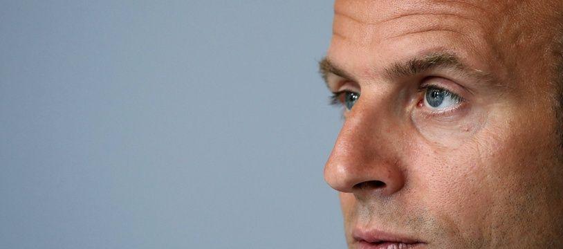 Emmanuel Macron à l'Elysée, le 4 mai 2020.