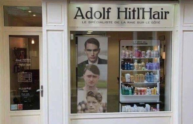 Strasbourg la mauvaise blague du salon de coiffure adolf for Salon de coiffure nouvel hair