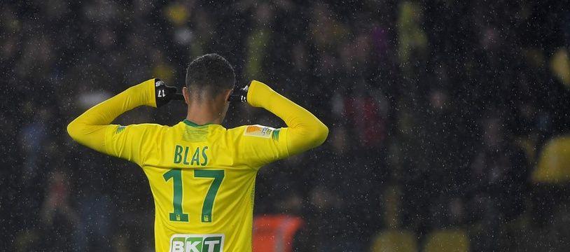 Ludovic Blas, double buteur face au Paris FC.