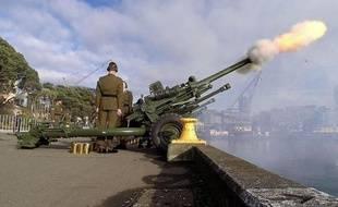 Cérémonie de commémoration du déclenchement de la Première Guerre mondiale, le 4 août 2014 à Wellington, en Nouvelle-Zélande