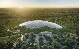 Le dôme qui va abriter Tropicalia fait 20.000 m2.