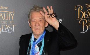 L'acteur Ian McKellen à New York