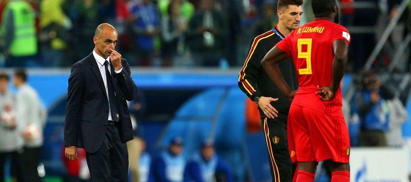 Roberto Martinez, le sélectionneur de la Belgique, après la demi-finale de Coupe du monde perdue contre la France, le 10 juillet 2018 à Saint-Pétersbourg.