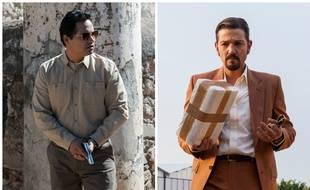 Michael Peña et Diego Luna dans la série «Narcos:Mexico».