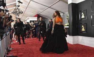 Rihanna arrives at the 59th annual Grammy Awards at the Staples Center on Sunday, Feb. 12, 2017, in Los Angeles.