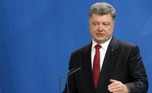 Le président ukrainien Petro Porochenko le 13 mai 2015 lors d'une visite à Berlin