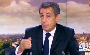 Nicolas Sarkozy le 7 décembre 2015 au JT de France 2.