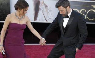 Jennifer Garner et Ben Affleck sur le tapis rouge aux Oscars 2013.