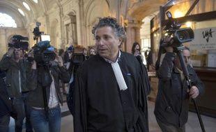Gilles-William Goldnadel, avocat de Patrick Buisson, au tribunal de grande instance de Paris le 10 mars 2014