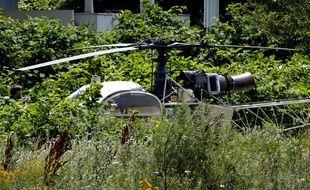 L'hélicoptère a été retrouvé à Gonesse (Val d'Oise).