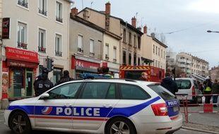 Lyon, le 10 février 2019. Une femme et sa petite fille sont mortes dans un incendie survenu route de Vienne samedi soir.