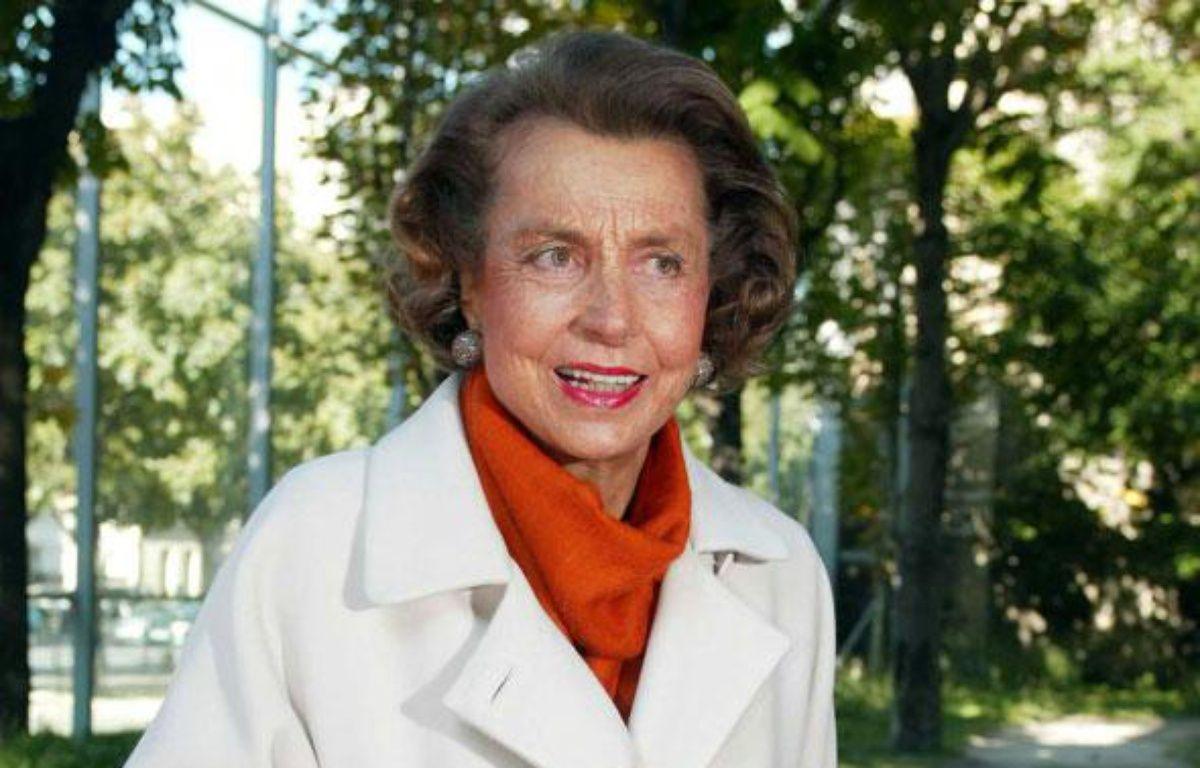 Liliane Bettencourt, l'héritière de L'Oréal en septembre 2002. – NIVIERE / SIPA