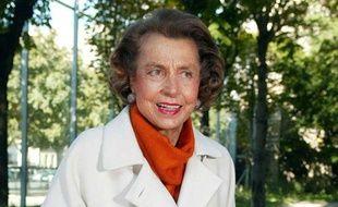 Liliane Bettencourt, l'héritière de L'Oréal en septembre 2002.