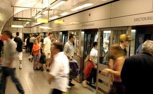 Illustration de la station de métro Capitole à Toulouse.