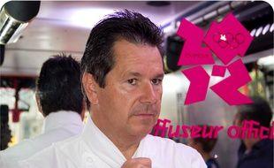 Le chef Christophe Leroy, le 4 août 2012.
