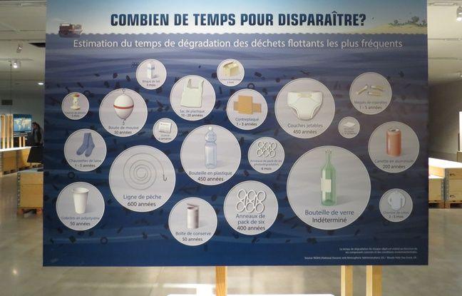 Marseille 02 MARS 2016 Une exposition sur les déchets plastiques en mers se déroule à la Villa Méditerranée.