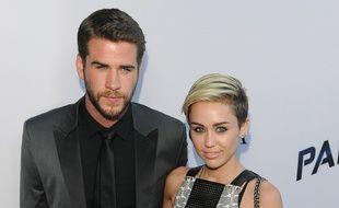 L'acteur Liam Hemsworth et la chanteuse Miley Cyrus