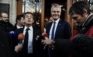 Nicolas Sarkozy et Laurent Wauquiez, le 8 décembre 2017.