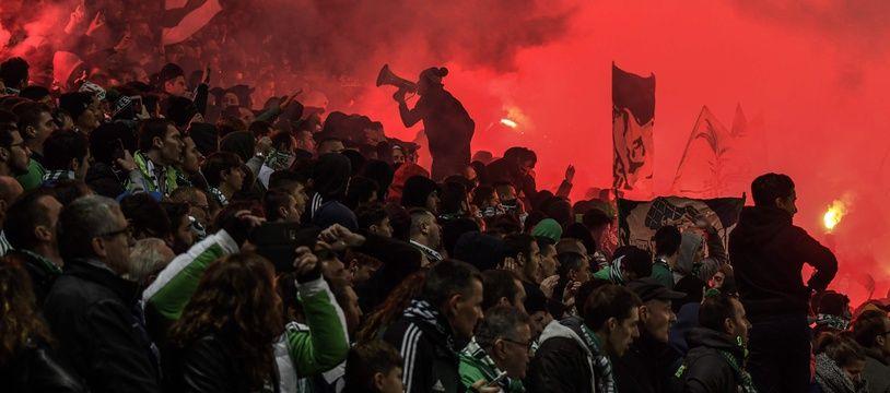 Les supporters de Saint-Etienne sont interdits de déplacement pour le derby à Lyon AFP PHOTO / JEFF PACHOUD