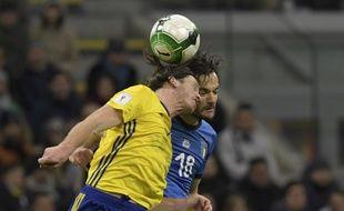 L'Italie fait match nul face à la Suède et ne se qualifie pas pour les mondiaux 2018, le 13 novembre 2017 à Milan.