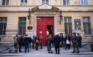 Les lycéens du lycée parisien Henri IV.-26/01/2016.