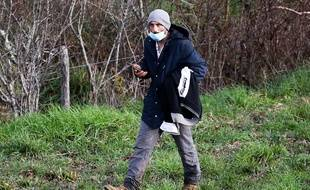 Cédric Jubillar, lors de d'une battue organisée pour retrouver sa femme Delphine, disparue dans la nuit du 15 au 16 décembre de leur domicile de Cagnac-les-Mines, dans le Tarn.