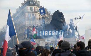 Des membres de Génération identitaire ont manifesté à Paris le 20 février 2021.