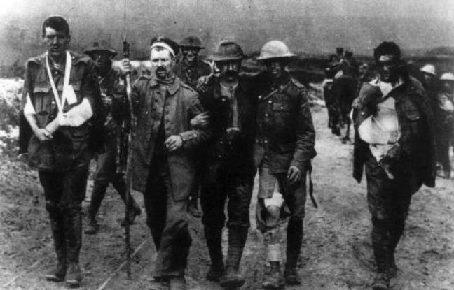 Des poilus pendant la Première Guerre mondiale.