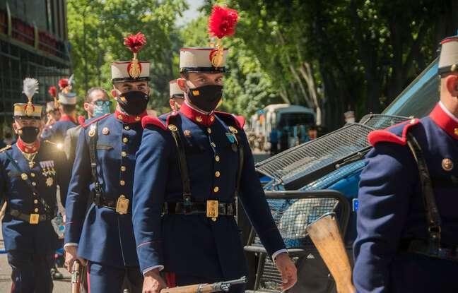 648x415 des militaires espagnols lors d une ceremonie avec le roi felipe vi a madrid le 29 mai 2021