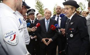 Gérard Collomb s'est rendu à Trappes, ce mercredi 23 août.