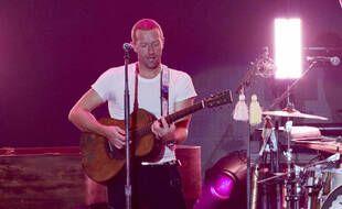Coldplay sur scène le 18 janvier 2020 à Inglewood aux Etats-Unis