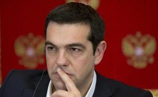 Le Premier ministre grec Alexis Tsipras au Kremlin à Moscou le 8 avril 2015