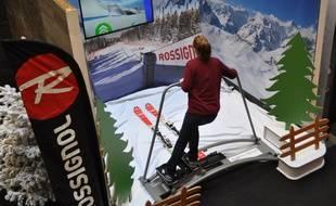 Le simulateur Ski Fit 360 de la société strasbourgeoise Studio 360 Connect.