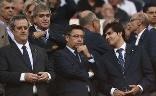 Josep Bartomeu, le président du Barça, dans les tribunes du Camp Nou.