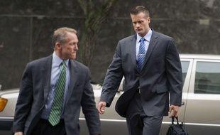 L'ancien garde du corps de Blackwater,  Evan Liberty (droite), accusé d'avoir participé à une tuerie dans laquelle 14 civils irakiens étaient morts, en 2007.