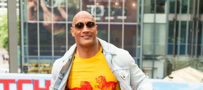 L'acteur Dwayne Johnson à l'avant-première de Baywatch