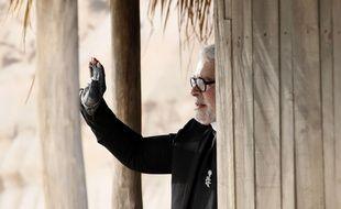 Karl Lagerfeld le 2 octobre 2018 au défilé Chanel