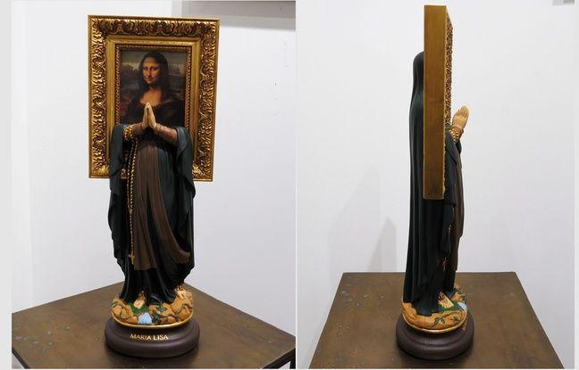 L'artiste Soasig Chamaillard a fusionné Mona Lisa et la Vierge Marie.