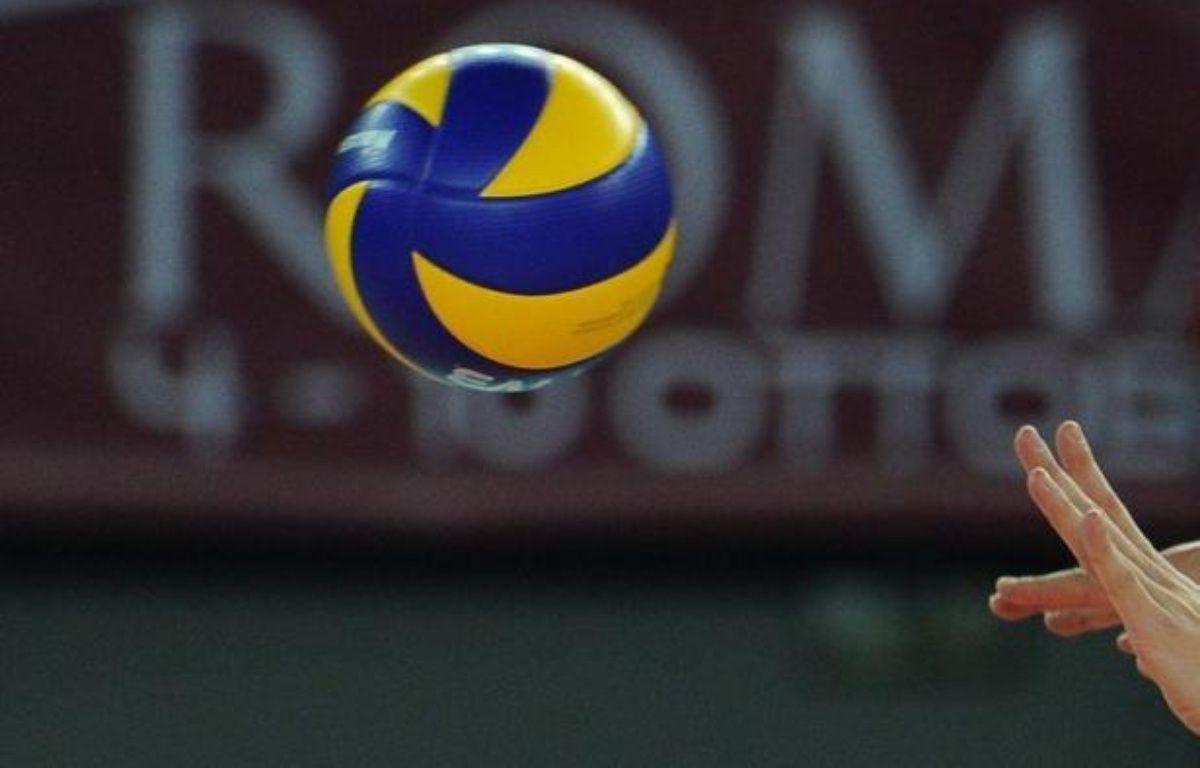 La France a battu la Lettonie 3 sets à 1 (25-18, 19-25, 25-18, 25-22) lors de son deuxième match des qualifications à l'Euro-2013, vendredi à Szeged, en Hongrie – Alberto Pizzoli AFP