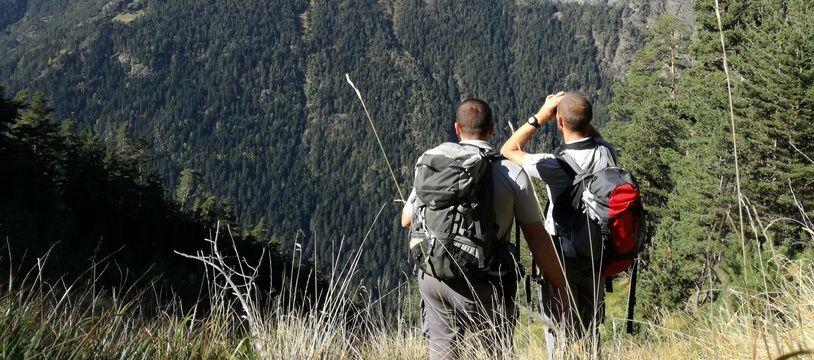 Des randonneurs dans les Pyrénées (illustration).