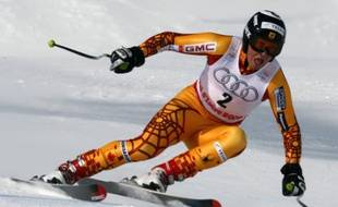 Le skieur canadien John Kucera lors de la descente des championnats du monde de Val d'Isère, le 7 février 2009.