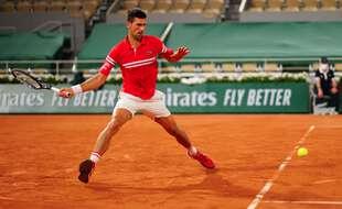 Novak Djokovic, sur le Philippe Chatrier