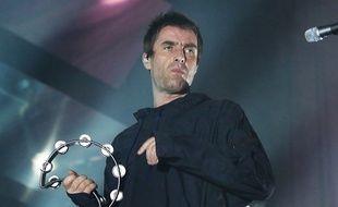 Le chanteur Liam Gallagher sur la scène de l'O2 Ritz de Manchester hier soir