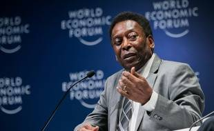 Le Brésilien Pelé lors du Forum économique mondial à Sao Paulo, le 14 mars 2018.