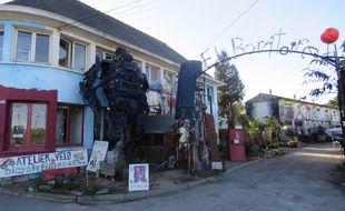 Le 48, boulevard Villevois Mareuil, où sont installés les ateliers des artistes de l'Elabo.