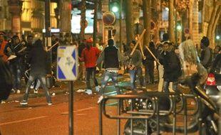 Des affrontements entre migrants ont éclaté à Paris, près de Stalingrad, le 2 novembre 2016.